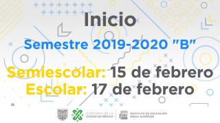 """Inicio semestre 2019-2020 """"B"""""""